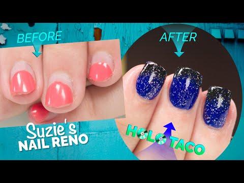 Suzie's Nail Reno Complete Nail Renovation with Holo Taco Design