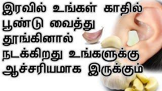 இரவில் உங்கள் காதில் பூண்டு வைத்து தூங்கினால் |  Health benefits of putting garlic in ear