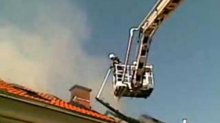 Požár střechy Duchcov Havlíčkova ulice