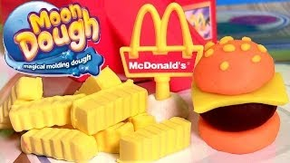 Moon Dough Burgers Fries Play Doh Hamburgers McDonalds Hamburguesa de Plastilina by Funtoys
