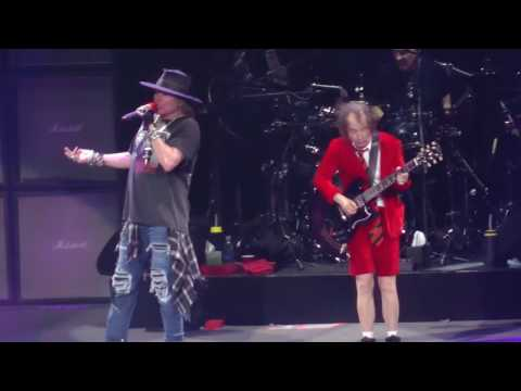 AC DC W Axl Rose Thunderstruck Madison Square Garden Nyc 9.14.16