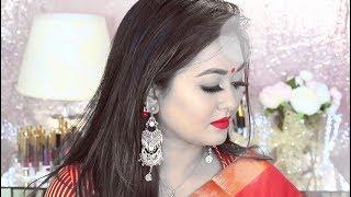 পহেলা বৈশাখের সাজগোজ || Pohela Boishakh Makeup Tutorial || Bangla New Year