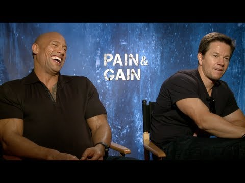 PAIN & GAIN Interview Mark Wahlberg Dwayne Johnson Anthony Mackie Tony Shaloub Ken Jeong & Paly