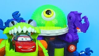 Imaginext Ion Alien Headquarters with Disney Pixar Cars Lightning McQueen and Mater