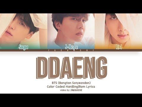 BTS RM, SUGA, J-HOPE - DDAENG (땡) (Color Coded Lyrics EngRomHan+Español)