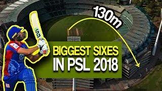 Biggest Sixes In PSL 2018 | Shahid Afridi | Shoaib Malik | Asif Ali | Fakhar Zamman | HBL PSL