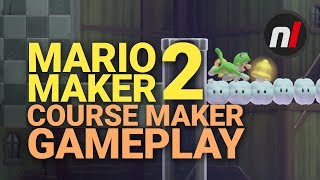 Super Mario Maker 2 Course Maker Gameplay On Nintendo Switch (Direct Feed)