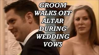 (Heavy 18+) Surprise Groom walks off church altar during wedding vows Stepdaughter