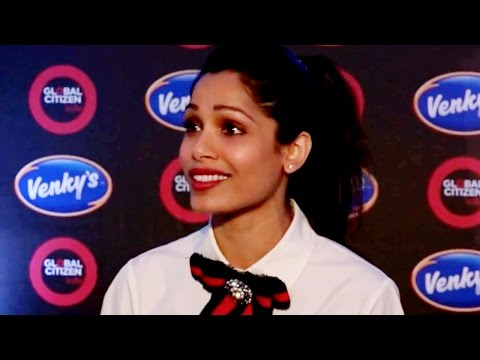 Comedy: Freida Pinto managed to piss off 80,000 people