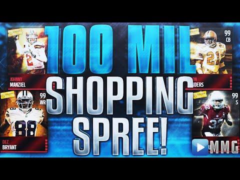 100 MILLION COINS SHOPPING SPREE Madden Mobile