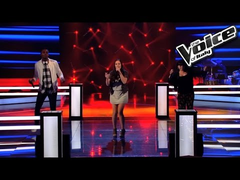 Corinne Marchini Veronica Moscara Charles Kablan In The Night The Voice of Italy 2016 Battle