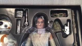 Hot Toys Rey & BB-8 Unboxing