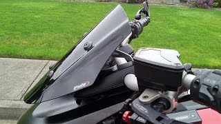 PUIG Adjustable Sport Street Screen for Project Diavel Ducati - Roadster Comparison
