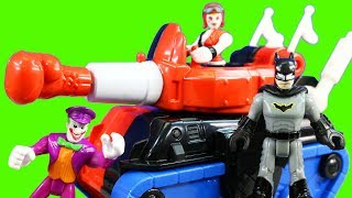 Imaginext DC Super Friends Harley Quinn & Tank And Batgirl & Batmobile Rescue Batman From The Claw