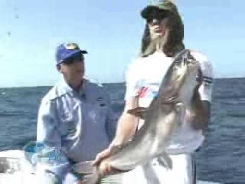 Bagre gigante capturado no litoral catarinense durante a filmagem do programa Pesca Dinâmica na TV