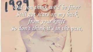 Bad Blood Taylor Swift Lyrics