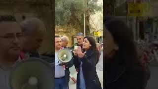 موظفي شركة اوجيه يتظاهرون امام السفارة السعودية في بيروت