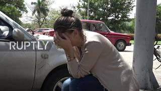 Cuba: Relatives weep at Havana morgue for plane crash victims