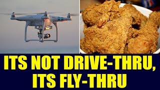 New Zealand man flies drone into restaurant to get his