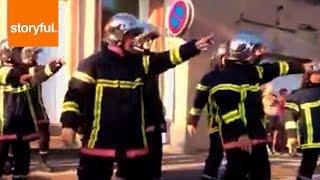 Firemen Flash Mob