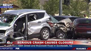 BREAKING: 5 car crash in Scottsdale causes complete closure of intersection