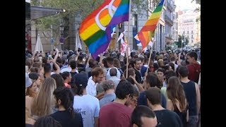 Clashes Break out at Far right March Following Barcelona Terror Attack