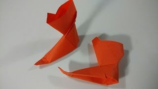 How to make a paper boots - Classic Origami
