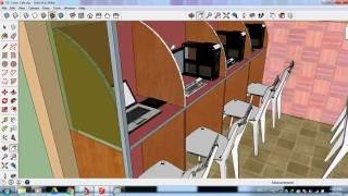 Small Cyber Cafe Design in Sketchup