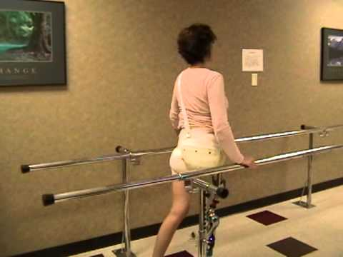 hemipelvectomy Janet Susdorf Chadwick walking for first time on prosthesis
