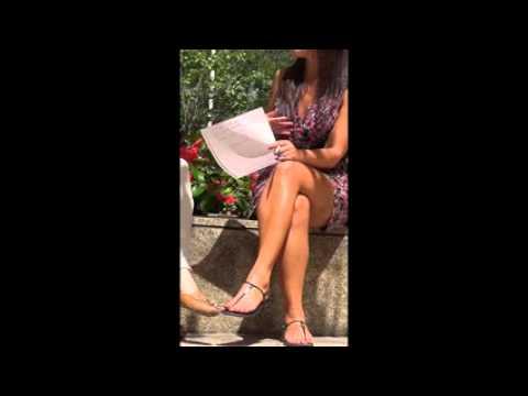 Hot  mature asian legs and feet