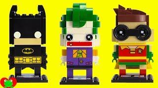 SUPERHERO LEGO Brickheadz Batman 41585, Joker 41588, Robin 41587