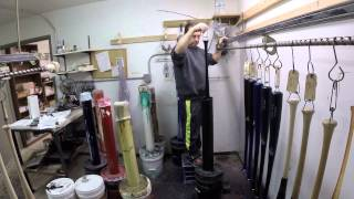 Making a professional baseball bat!
