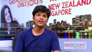 Student testimonial Binil Philip  (Canada) Manjoorans Study Abroad
