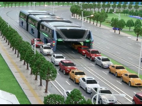 Xxx Mp4 China S Transit Elevated Bus Debuts At Beijing Intel High Tech Expo 3gp Sex