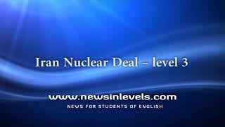 Iran Nuclear Deal – level 3
