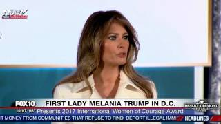 RARE SPEECH: First Lady Melania Trump at State Dept. International Women of Courage Awards (FNN)