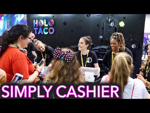 I worked at my Holo Taco booth VidCon 2019
