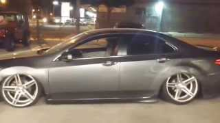 Tony Song's Acura TSX bagged on CVT Designs air suspension.