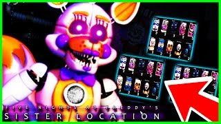 FNAF Sister location CUSTOM NIGHT🌟SECRET NEW ANIMATRONICS🌟 Five Nights at Freddy's Sister Location