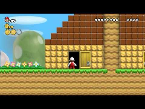 New Super Mario Bros Wii Hellboy Edition Welt 1 1 bis 1 Tower