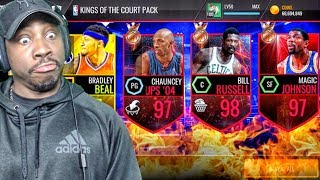 GUARANTEED 94+ OVR IN KINGS OF THE COURT PACK OPENING! NBA Live Mobile Gameplay Pack Opening Ep. 166