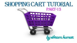 Shopping Cart Tutorial in Hindi part 13 Paypal Button Integration