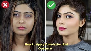 How To Apply Foundation For Full Coverage, Natural Looking Makeup   Rinkal Soni