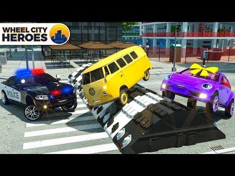 Xxx Mp4 Street Vehicles Stuck In Obstace Police Car Help Wheel City Heroes New Cars Cartoon 3gp Sex