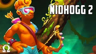 A GENTLEMAN'S DUEL, SIMPSONS STYLE! | Nidhogg 2 (BEWARE OF THE WORMS!) Ft. Sattelizer