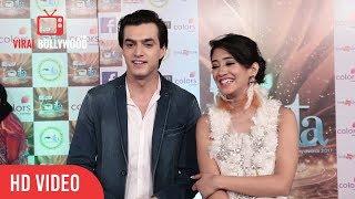 Mohsin Khan with Shivangi Joshi at 17th Indian Television Academy Awards 2017 | ITA Awards 2017