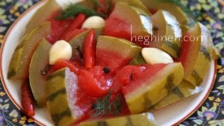 How To Make Pickled Watermelon - Heghineh Cooking Show