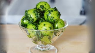 طرز تهیه درار (دلال) - نمک سبز، چاشنی خوشمزه برای خیار، ماست و گوجه سبز