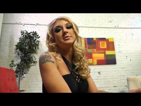 Blonde Leya Falcon loves black men