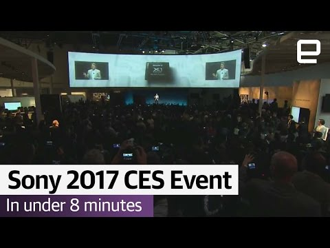Sony s CES 2017 event in under 8 Minutes